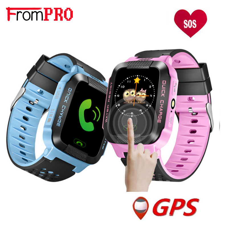 FROMPRO Y21 Touch Screen GPS Child Smart Watch Q528 With Camera Lighting Phone Location SOS Call Remote Monitor Pk Q50 Q90 Q100