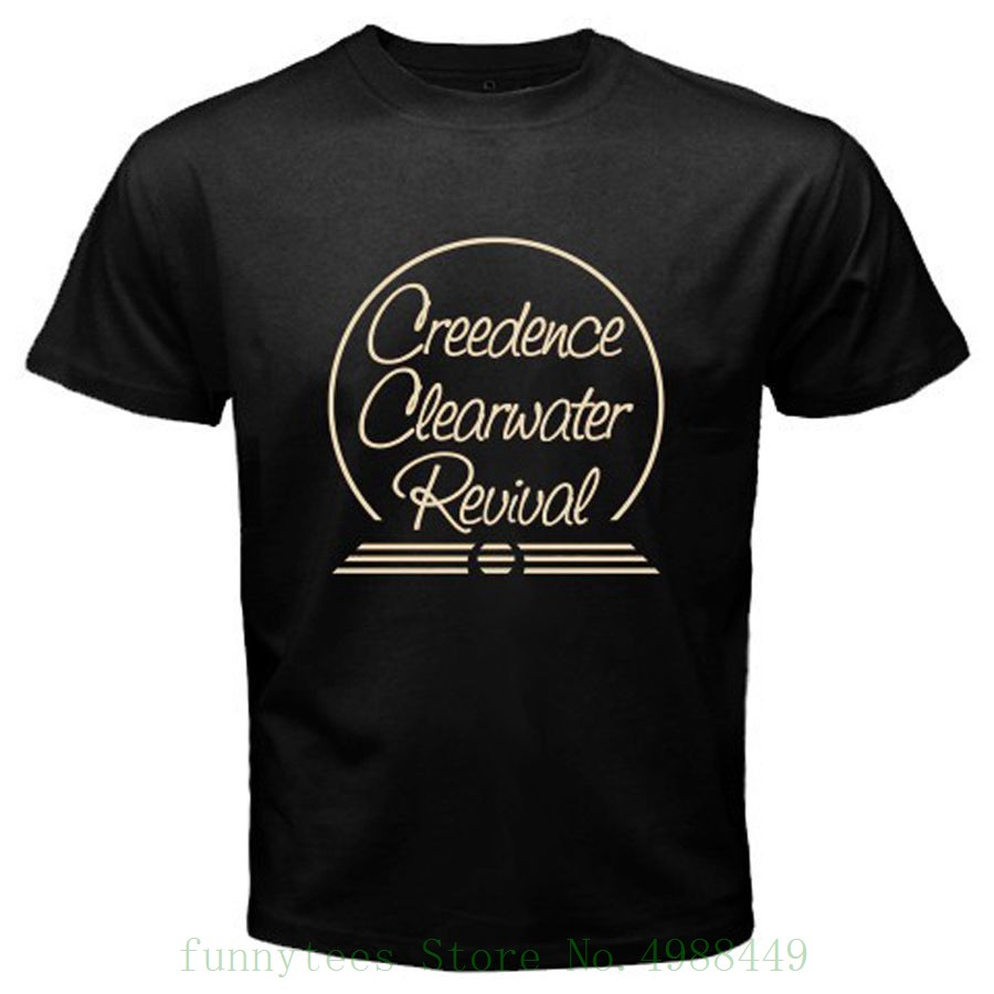 068db5d06 Ccr Creedence Clearwater Revival Rock Legend hombres negro Camiseta talla S  a 3xl Hip Hop ropa ...
