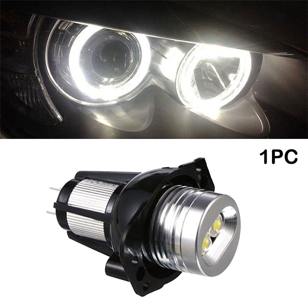 1pcs car <font><b>led</b></font> light <font><b>E90</b></font> Angel Eyes Halo Ring <font><b>LED</b></font> Light 6W <font><b>headlight</b></font> fog light lamp Bulb Xenon White For <font><b>BMW</b></font> image