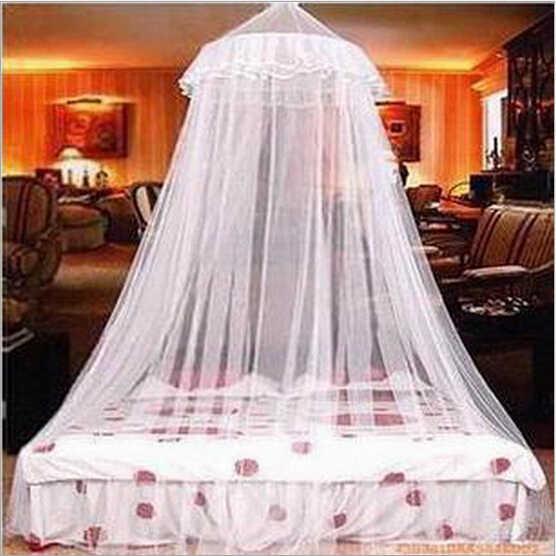 1 Buah 250 Cm X 60 Cm Putih Round Hung Dome Bed King Kanopi Kelambu Serangga Terbang Nyamuk Net