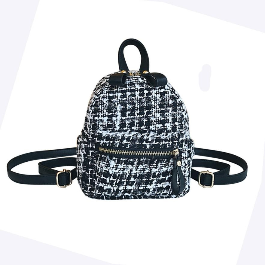 British Style Plaid Women Backpack Mini Bags Rucksacks For Girls Mochila Feminina Escolar Small School Bag For Teenager#121 children school bag minecraft cartoon backpack pupils printing school bags hot game backpacks for boys and girls mochila escolar