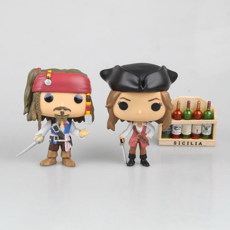 Captain Jack Elizabeth Action Figure Toys Caribbean Movie Model Toy Shake Toy for Kids Gifts