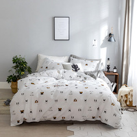 Luxury Bed Cover Cotton Pug Bedding Bedding Set Queen King Size 3/4PC 3d Bed Set Duvet Cover Fitted/Bed Sheet Set Parrure De Lit