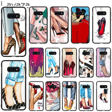 Lavaza High Heel Shoes Soft Case for Galaxy Note 8 9 S7 edge S8 S9 S10 Plus S10e M10 20 30 Cover