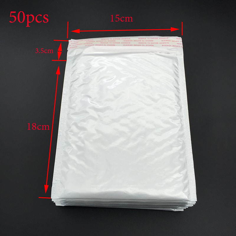 Special Offer! Large Packaging 50pcs Bubble Film Envelope Area (15 * 18cm +3.5Cm) Gift Packaging