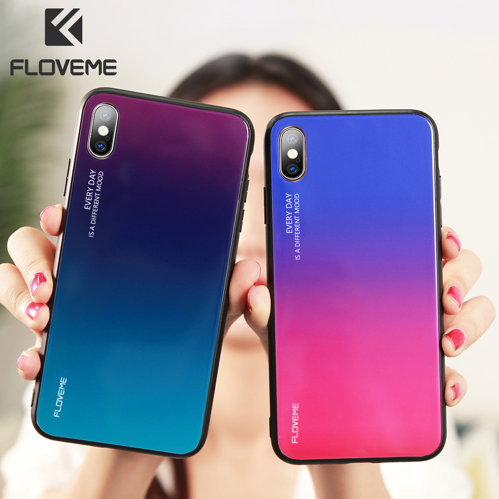 Gradient Tempered Glass Phone Case For <font><b>Huawei</b></font> <font><b>P20</b></font> <font><b>P20</b></font> Pro <font><b>P20</b></font> <font><b>Lite</b></font> P30 P30 Pro P30 <font><b>Lite</b></font> <font><b>Mate</b></font> 20 Pro Colorful Cover Fundas <font><b>Capa</b></font> image