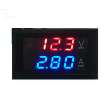 DC 0-100V 0-100A Red Blue Dual LED Digital Voltmeter Ammeter Voltage + Shunt Dual Display Digital Header 0 28 led dual display digital current voltmeter shunt black 50a 75mv
