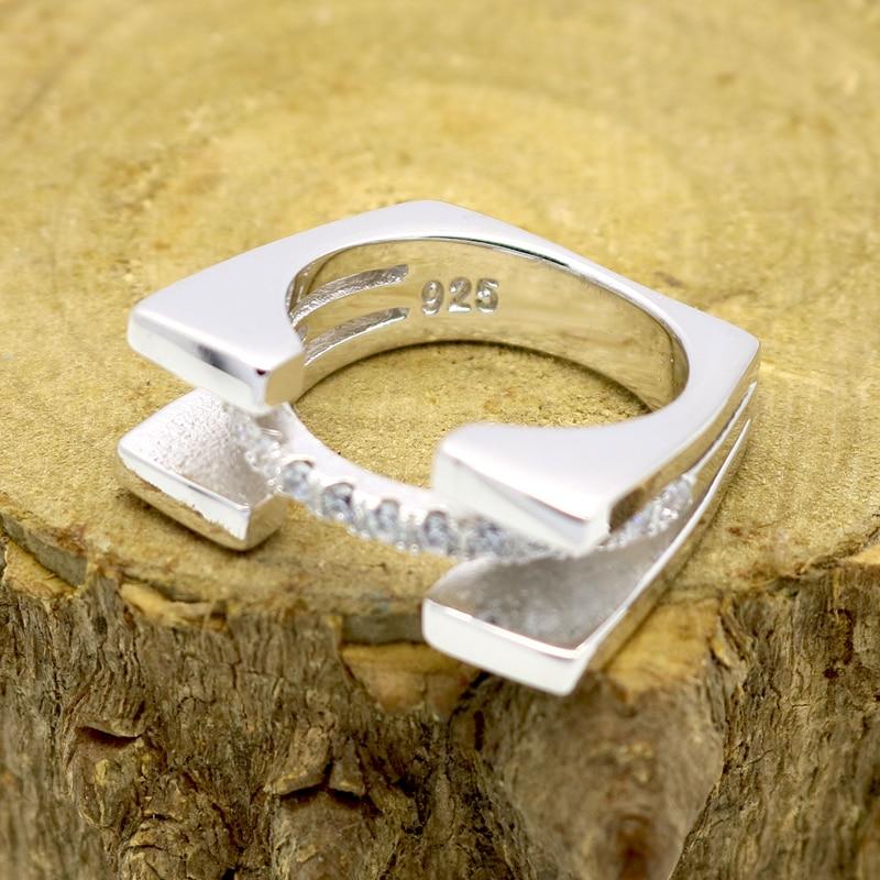 Modni nakit Srebrni prsten za žene Kubični cirkonij kamen Dame - Modni nakit - Foto 3