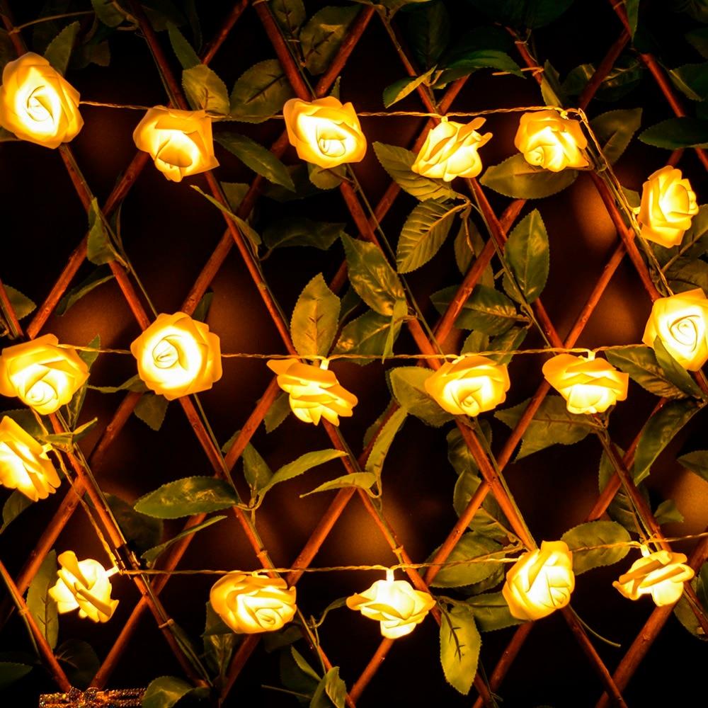 Flower string lights - 2m Wedding Decoration Led String Lights Flower 20 Led Battery Power Fairy Lights Christmas New Year