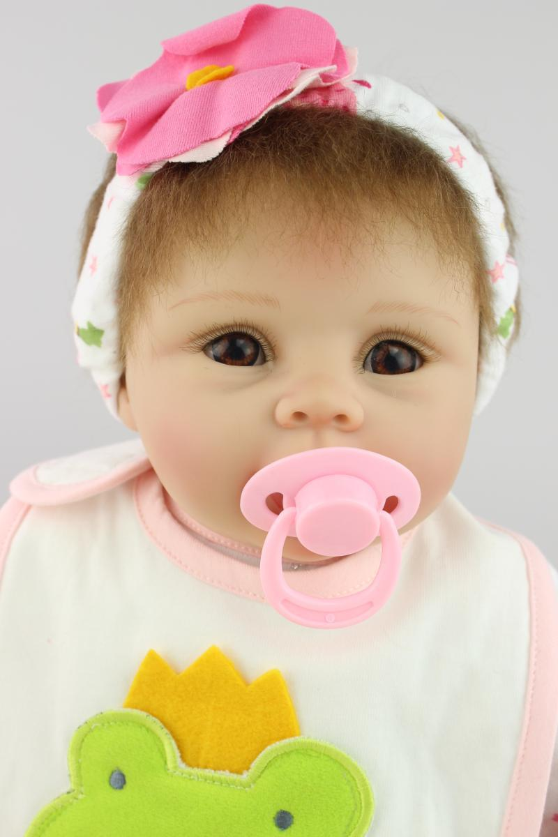 55cm lifelike cartoon silicone reborn baby doll toys, play house toy girls birthday gift brinquedos pink princess doll silicone reborn toddler baby doll toys for girl 52cm lifelike princess dolls play house toy birthday christmas gift brinquedods