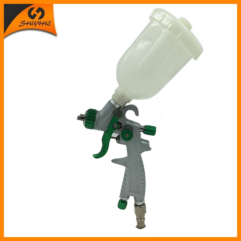 SAT0087 HVLP Mini Spray Paint Gun Pressure Tank Mini Air Sprayer Airbrush Painting Air Gun Spray Pneuatic Paint Guns HVLP sat1215 air spray paint chrome spray machine hvlp paint gun air paint sprayer