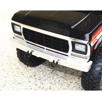 Traxxas Rc Car | Metal Front / Rear Bumper Set For Traxxas TRX4 Ford Bronco 1/10 RC Car Parts Rear Bumper With U-hook Tail Hook Accessories Kit