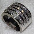 Victoria Wieck princesa corte 10ct topaz 10KT ouro branco cheio de noivado de diamante anel Sz 5 - 11 presente