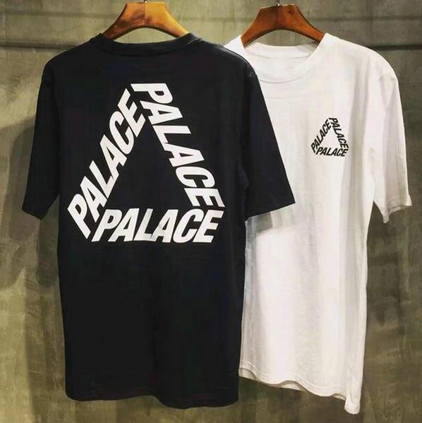 44e7d337edcc Palace Skateboards Classic Triangle T-Shirt Mens Basic Summer Noah Clothing  Gosha Rubchinskiy Cotton Short Sleeve T Shirt Tee
