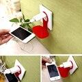 Moda vinculada pared de carga de rack titular soporte de colores para el cargador del teléfono celular para el iphone samsung sony htc xiaomi huawei bq