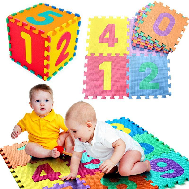 10PCS/SET Baby Play Mat EVA Foam Puzzle Alphabet Letters Numeral  Educational Foam Learning Mat