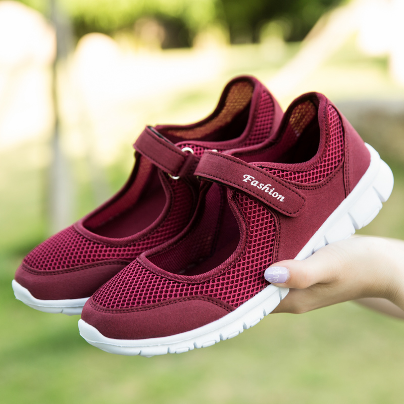 YTracyGold Plus Size 35-42 Women Casual Shoes Ladies Light Breathable Sneakers Outdoor Walking Flats Shoes Non Slip Mother Shoes pinsen fashion women shoes summer breathable lace up casual shoes big size 35 42 light comfort light weight air mesh women flats