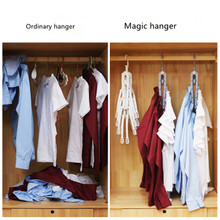 8 Pcs/Multi-function Magic folding Storage Rack Clothes Hanger Hook Closet Organizer Storage Holder Wardrobe Laundry Drying Rack