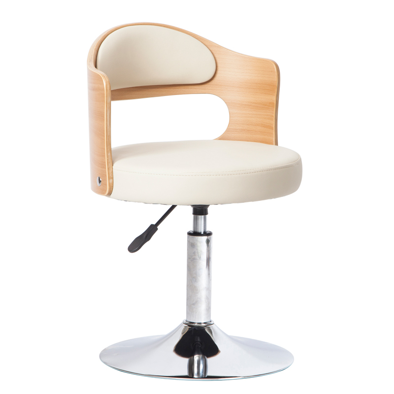 Style Household Computer Chair Lifted Rotated Small Swivel Chair Wooden Back Safe Study Stool Multi-purpose Vanity Chair