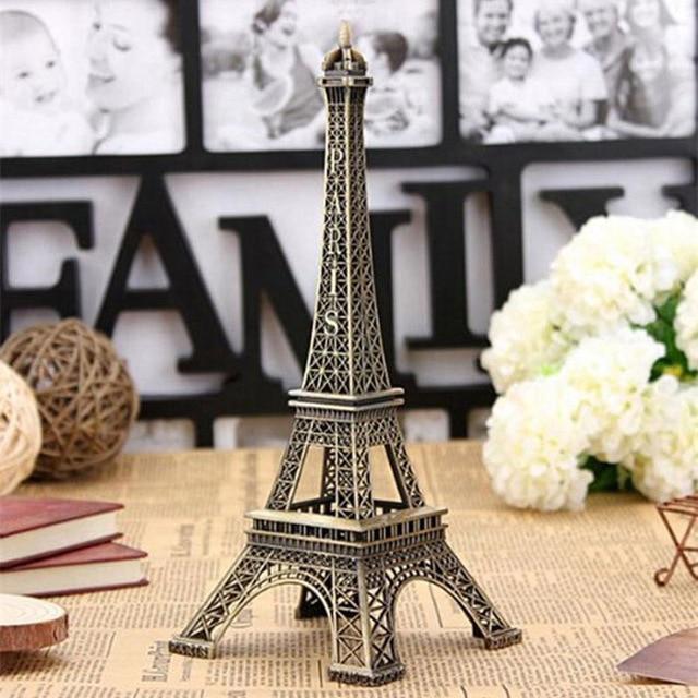 Eiffel Tower Home Decor Accessories Resin Statue Garden Miniature Object Vintage Z