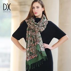 Image 2 - New 2019 Women Winter Scarf For Women Wool and Silk Scarf And Shawl Warm Female Plaid Scarf Women Shawl echarpe Face Shield