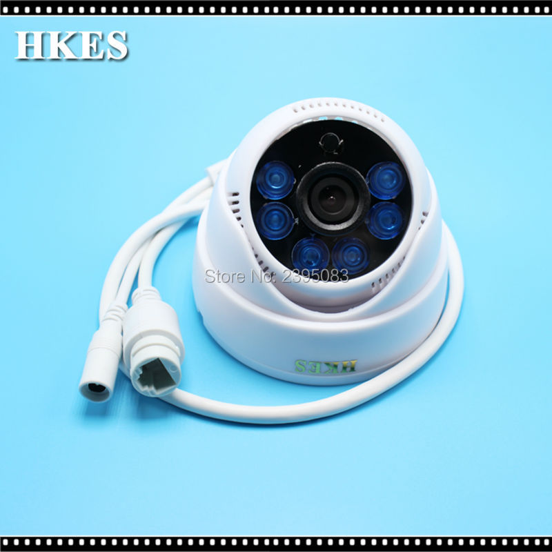 HKES New HD 1080P Wired IP Camera ONVIF Network Indoor Security CCTV 6IR LEDs Night Vision Dome IP Cam 2MP