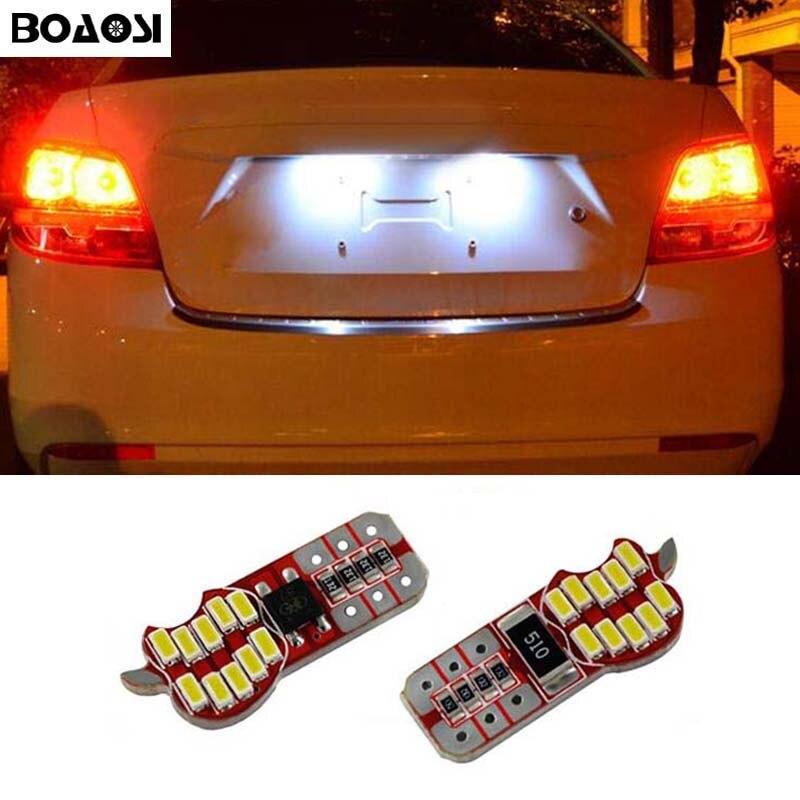 BOAOSI 2x <font><b>CANBUS</b></font> Error Free T10 W5W 4014 SMD Car Interior Bulb License Plate Light For Chevrolet Cruze Camaro Captiva