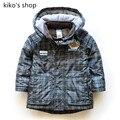 92-110 cm de altura Boy cálidos de primavera y otoño Bebé chaqueta a cuadros de moda chaqueta cazadora con capucha de Los Niños