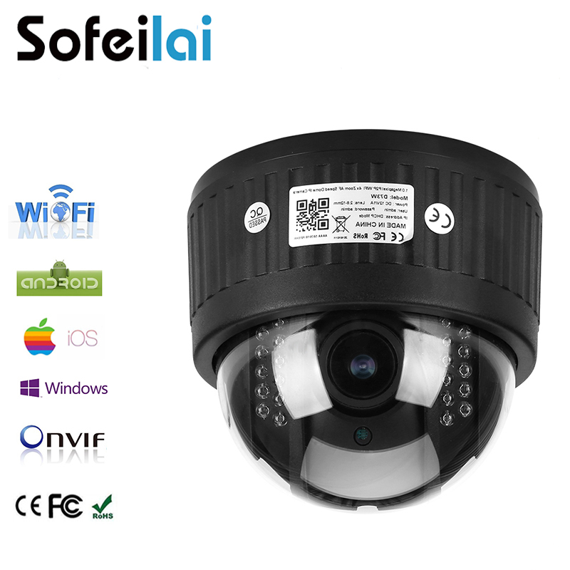 1080P HD WIFI wireles PTZ IP Camera audio 2.8-12mm optical 4xzoom auto focus len infrared night vision security CCTV P2P Cameras