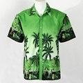 Hombres camisa de Hawaii playa de ocio de moda camisa de flores playa tropical hawaiano camisa a estrenar MA04283 camisas para vacaciones de verano