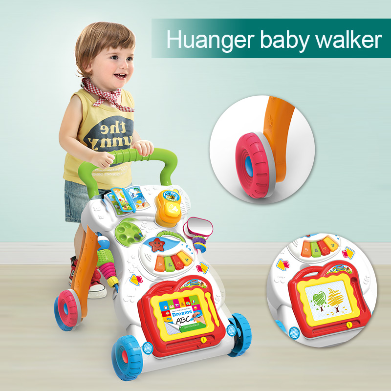 Huanger Baby stroller Sit&Stand Learning Walker Multifunction Outdoor Toy Ride On Car StokkeBaby Carriage with Wheel Kid Gift