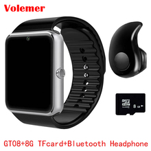 2017 Hot GT08 Bluetooth Smart Watch Sync Notifier Clock Connectivity Android Phone Smartwatch Support Sim TF