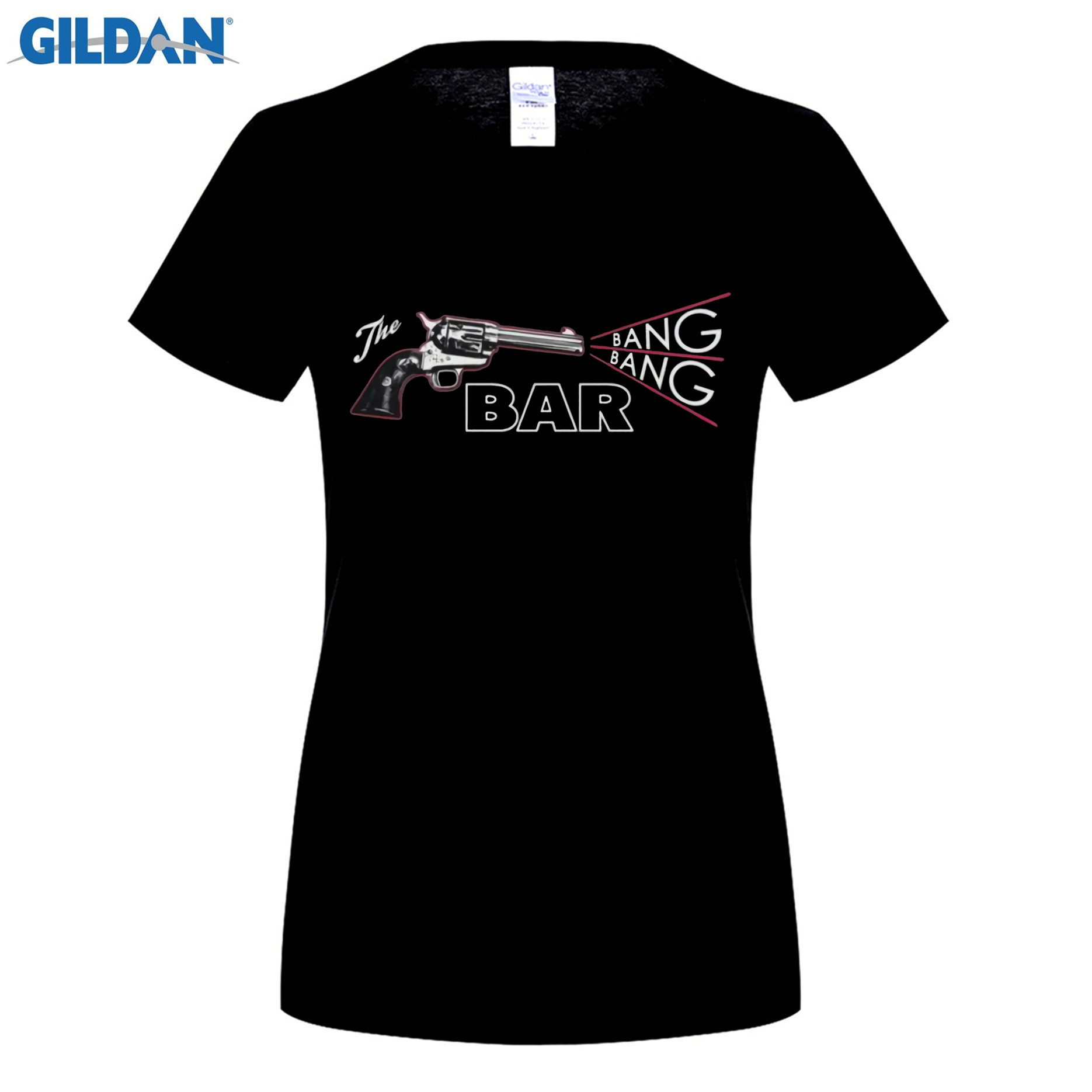 GILDAN 100% Cotton O-neck printed T-shirt Twin Peaks T Shirt The Bang Bang Bar for women