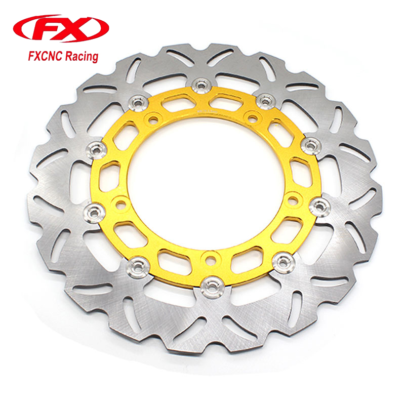 FXCNC Motorcycle Brake Disc 300mm Floating Front Brake Disc Rotor For YAMAHA YZF R15 2015 Motorbike Front Brake Disc Rotor motorcycle front