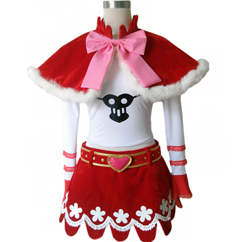 Anime One Piece Perona Princess Mononoke Cosplay Costume 6/lot