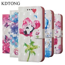 KDTONG Case sFor Samsung Galaxy J6 Plus 2018 Leather Flip Magnetic Walte Cover Coque For