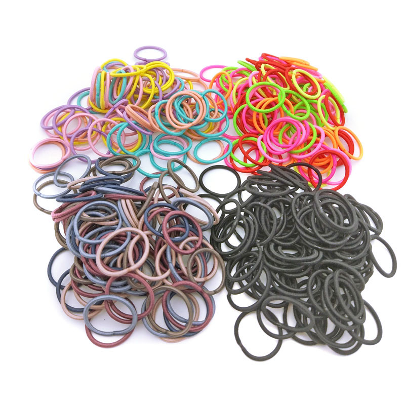 100Pcs/Lot Size 2.2cm Elastic Hair Bands Mini Rubber Band Hair Rope Ponytail Holder For Kids Girl Hair Accessories