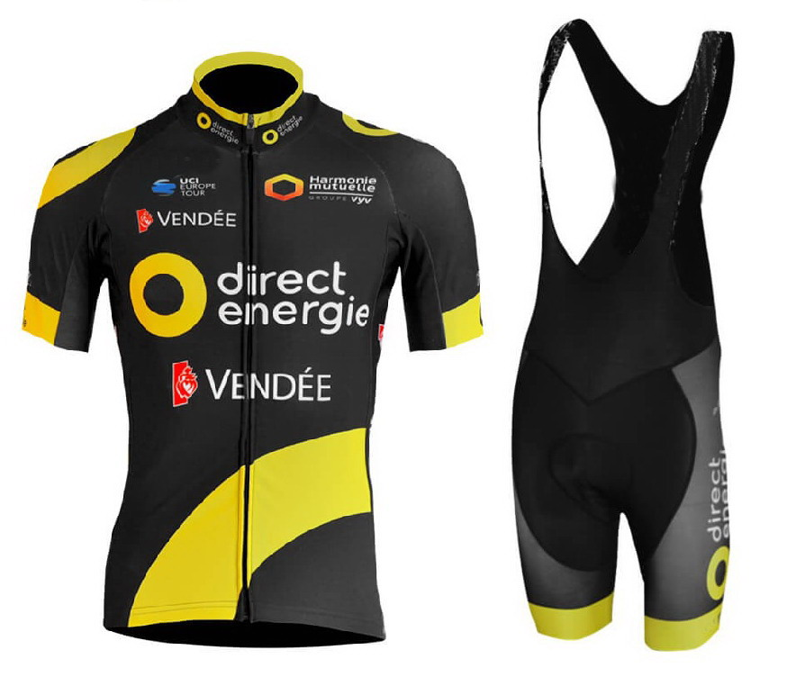 a29bbdf38 2018 DIRECT ENERGIE TEAM SHORT SLEEVE CYCLING JERSEY SUMMER CYCLING WEAR  ROPA CICLISMO+ BIB SHORTS 3D GEL PAD WITH POWER BAND -in Cycling Sets from  Sports ...
