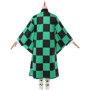 Image 3 - Аниме Demon Slayer Kimetsu no Yaiba Tanjiro Kamado косплей костюм мужское кимоно для вечеринки на Хэллоуин