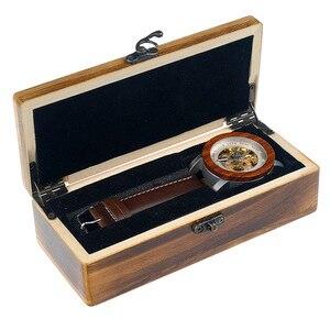 Image 5 - Bobo bird k12 자동 기계식 시계 클래식 스타일 럭셔리 남성 아날로그 손목 시계 대나무 나무 선물 나무 상자에 철강