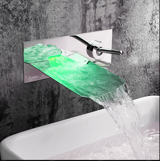 Real Bathtub Shower Faucets Torneira Para Banheiro Led Faucet Waterfall Wall Shower Mixer Bathroom Bath Tap bath tub faucet