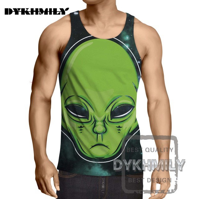 00ced32d43a1 Dykhmily Summer Tank Tops Tees Casual Cool Tops 2017 New Fashion Brand  Newest Fashion Men Top Tanks 3d Print The Aliens