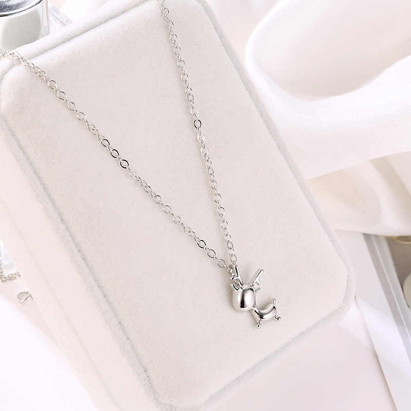 Deer Necklace For Women Silver Gold Color Link Chain Clavicle Choker Christmas Elk Pendant Necklaces Charm Jewelry Accessories