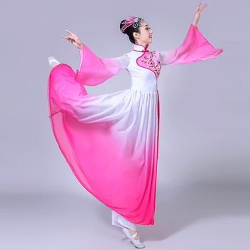 New Classical Dance Costumes Women's Solo Dance Fresh and Elegant Sleeves Dancing Clothes Chinese Style Dance Dress Hanfu Dress