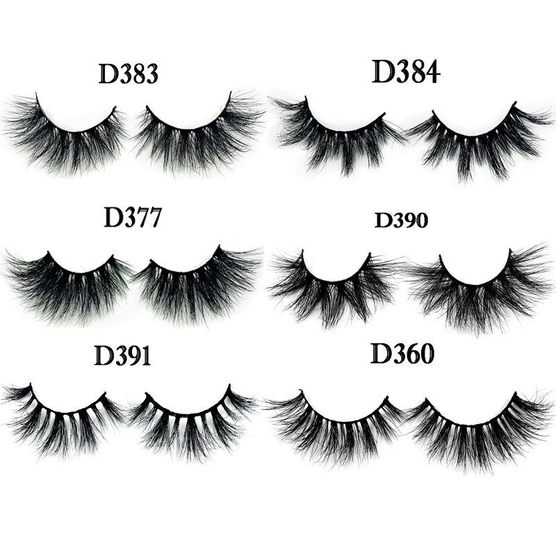 New Arrivals False Eyelashes 3D Real Mink Lashes Custom Packaging Wholesale Price 1pair/lot