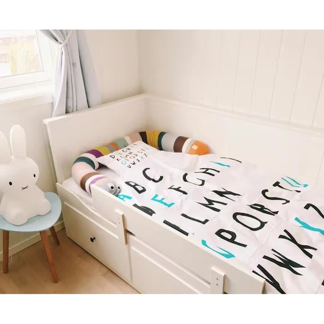 2017 baby bedding quilt cover blanket design letters kids bed cover blankets couverture bebe cotton baby deken with pillowcase