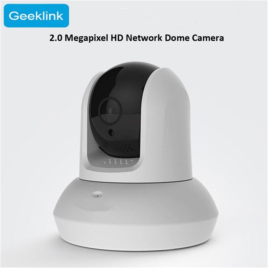 2019 Geeklink 1080 P HD Webcam Wifi Surveillance caméra Microphone APP à distance Wifi contrôle interphone numérique IP caméra Vision nocturne