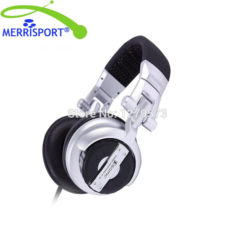 Professional Monitor Music Meadset Hifi Subwoofer Enhanced Super Bass Noise-Isolating DJ Headphone For Gaming, PC, Laptop Silver buy monitor for laptop