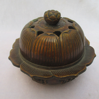 Rare Tibetan Old Copper Carved Old Buddhism Censer /Antique Metal Censer from Tibet