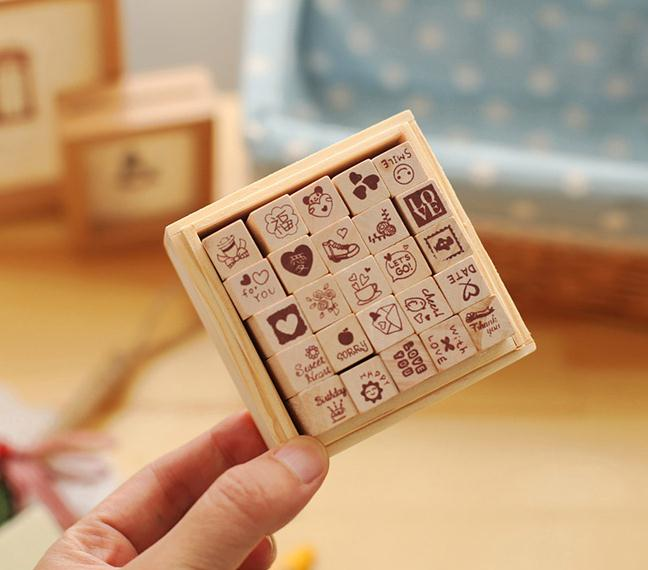 25 Pieces Wooden Rubber Stamps DIY Photo Album Props Love Theme Rubber Stamps For Handmade Wedding Scrapbook Photo Album jwhcj vintage cat date wood roller stamps for children diy handmade scrapbook photo album diary book decoration students stamps